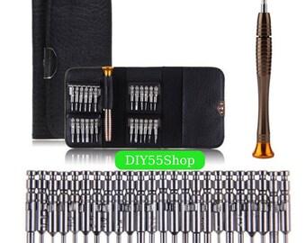 High Quality 25pcs set Precision Screwdriver Wallet Repair Tools Electronics PC Laptop cell phone glass