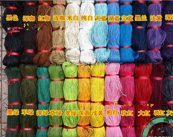 2mm  25 colors  Waxed Cotton Cord/Rope/String,Necklace and Bracelet Cord,Beading String Cord,Jewelry Making DIY Cord,