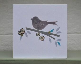 Blackbird & Blossom card