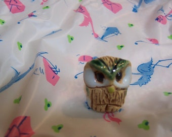 wee tiny owl figurine
