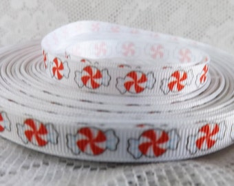 Peppermint candy ribbon candy ribbon Christmas candy ribbon Christmas ribbon 3/8 candy ribbon