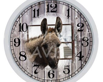 Donkey Burro Custom Made Wall Clock