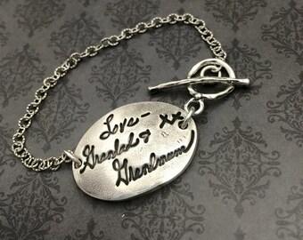 Signatur Handschrift Armband - Armband - Custom Schmuck - Fingerabdruck Schmuck - individuelle Signatur - Geschenk für Mama - benutzerdefinierte