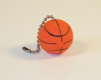 Basketball fan gift etsy basketball ceiling fan lamp pull chain coaches gift man cave decor sports decor mozeypictures Images