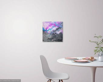 Acrylic abstract painting on canvas - 'illusions' (one of a kind)