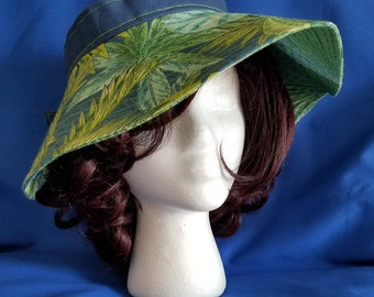 Palm Leaves Printed Visor