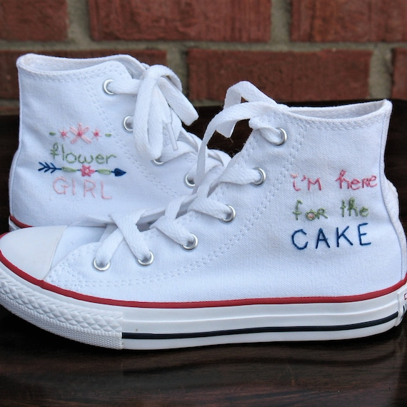 Flower girl shoes Custom Converse Wedding Converse Kid