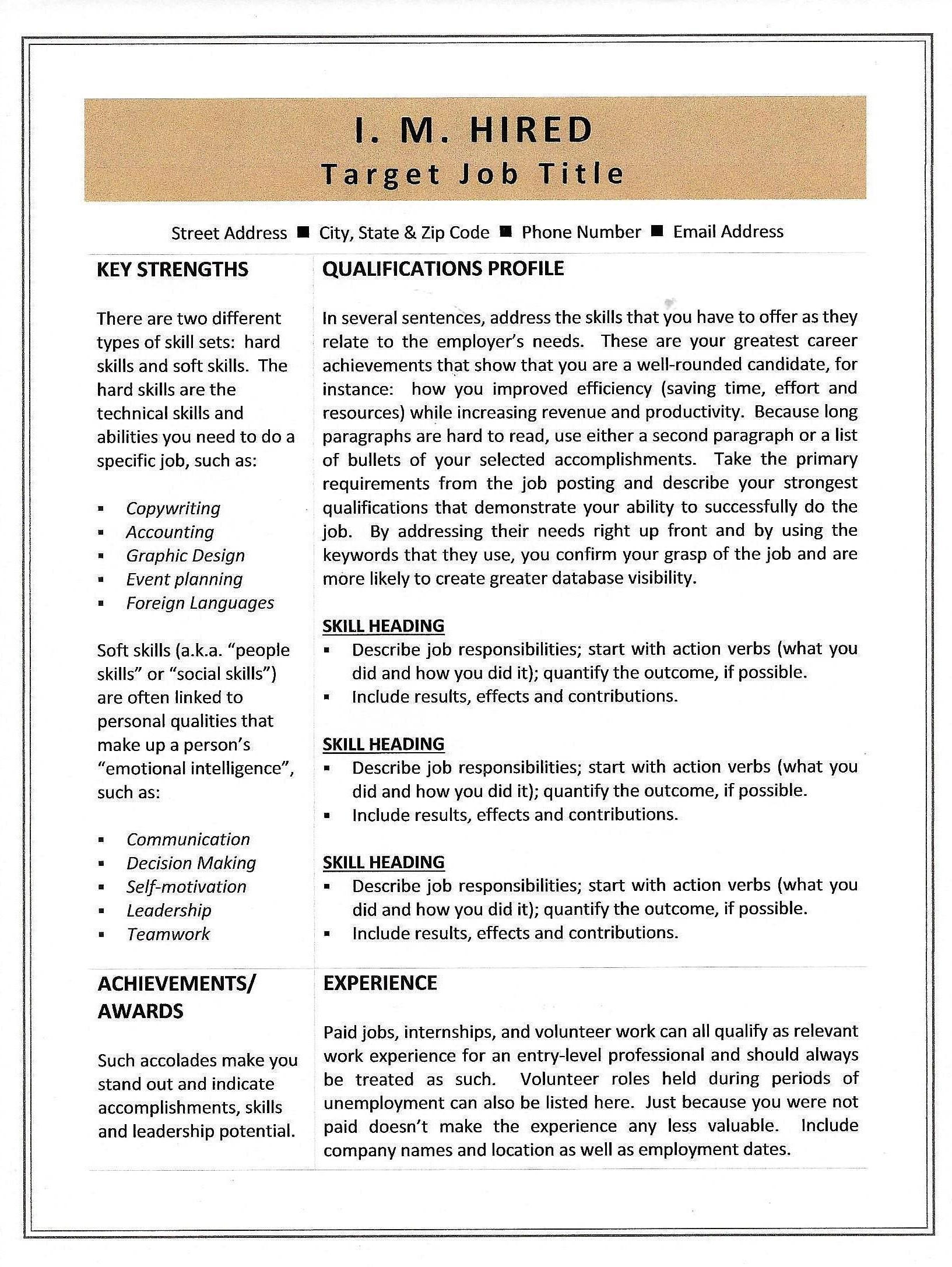 combination resume template  u0026 sample