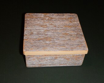 Barnwood BUTTERFLY BOX #1 handmade from reclaimed weathered wood - rustic refined