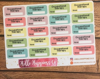 Occupational Therapy Stickers - OT Stickers - Therapy Stickers- Appointment Stickers - Planner Stickers - Functional Stickers
