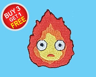 Fire Patches Flame Patch Iron On Patch Embroidered Patch Sew On Patch Patch Thermocollant