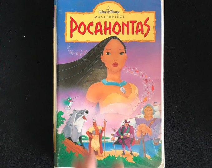 POCAHONTAS Disney 1990's Vintage Movie VHS