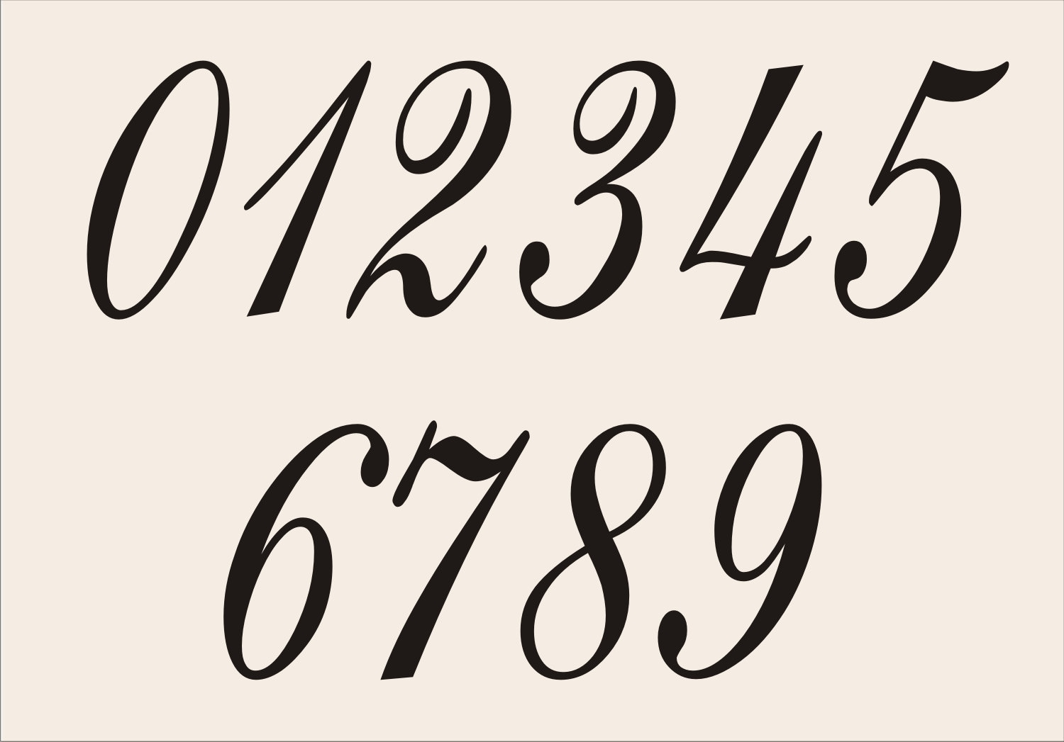 NUMBERS REUSABLE Stencil Eng1010 0 9 In 7 Sizes To Choose