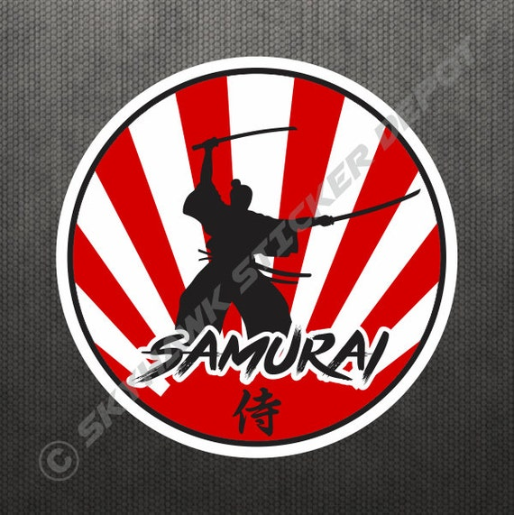 Rising sun samurai jdm sticker vinyl decal japan japanese flag