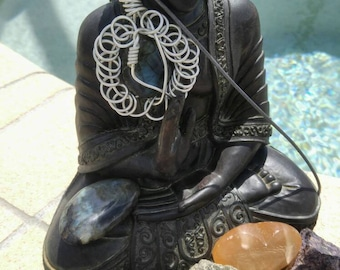 Labradorite wire wrapped pendant