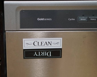 Dirty/Clean Dishwasher magnet | The dishes are dirty | The dishes are clean | dirty dishes magnet | clean dishes | refrigerator magnet