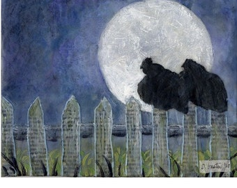 Moon Chickens - Giclee Print