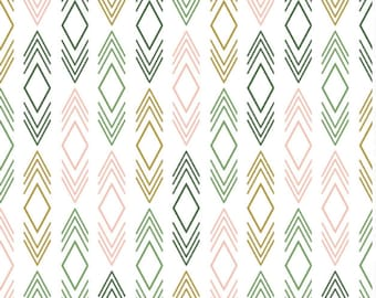 Pink Green Baby Bedding -Fitted Crib Sheets /Ikat Baby Bedding Girl /Mini Crib Sheets /Contoured Changing Pad Cover / Bloom Alma Mini Sheet