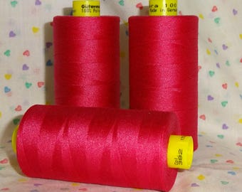 Sewing Thread RASPBERRY KISSES 1,094 yd Polyester Gutermann Mara 100  ONE (1) Spool Col. 4079 Raspberry Kisses