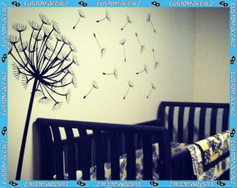 Dandelion Wall Decal - Comes with 14 scattered seeds