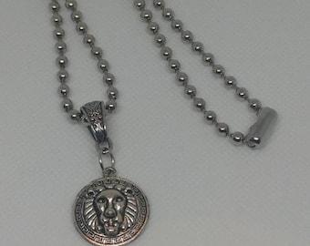 Silver Lion Necklace