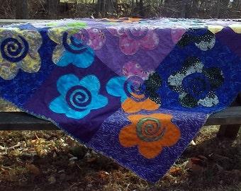 Inside Outside Flower Garden Quilt Pattern