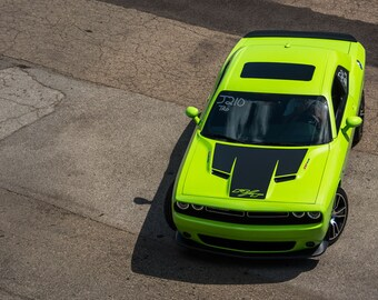 Poster of Dodge New Challenger Front Green HD Print