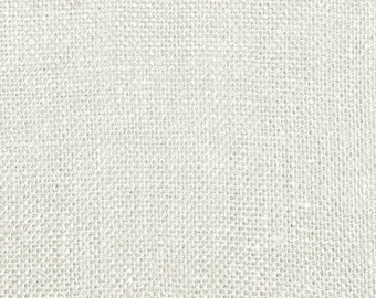 """48"""" Inch White Burlap - By The Yard"""