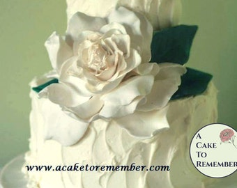 Gumpaste Gardenia for Cake Decorating, romantic cake topper. Edible flowers for cakes, sugar flower wedding cake topper.