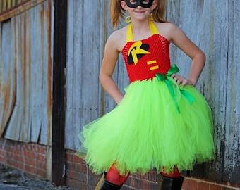 super hero tutu costume Robin tutu costume super hero costume for girls batman and robin costume & Robin Tutu Dress Robin Costume Super hero Tutu Dress Super