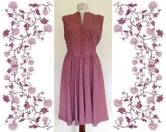 1940's Vintage Brocade Dress
