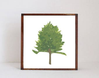 woodland nursery art, - pine tree art, nursery woodland art, tree, forest nursery art, nursery print, woodland print, redtilestudio