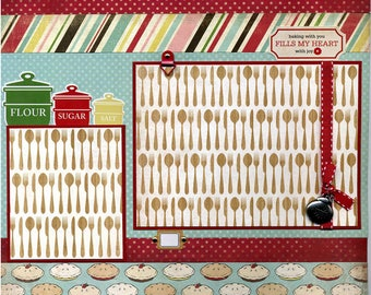 Baking With You Fills My Heart - Premade Scrapbook Page