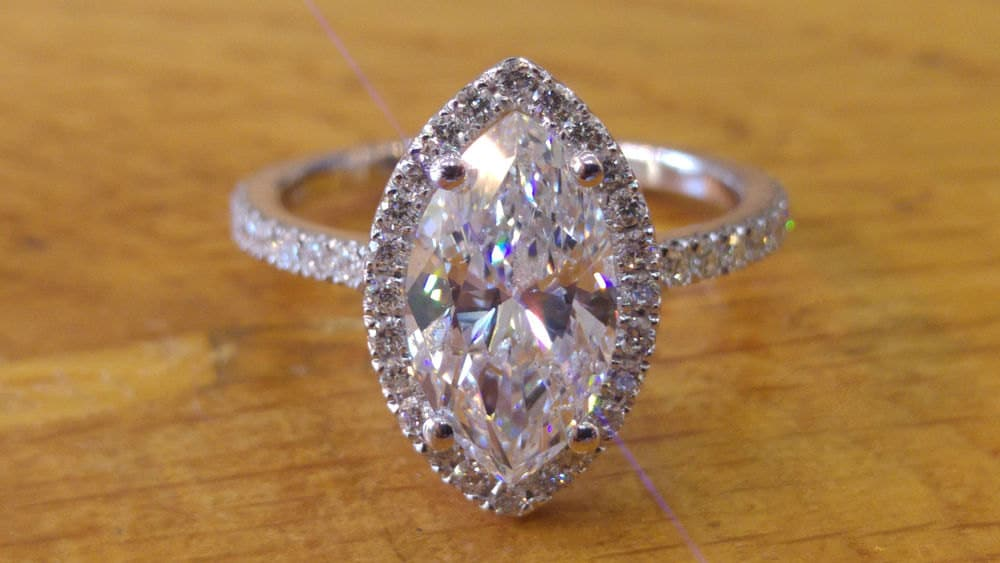 2 Carat Diamond Ring Marquise Cut Engagement Ring Marquise