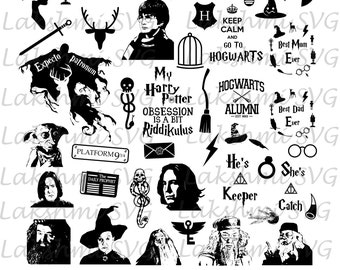 Harry Potter svg files, Harry Potter svg,quotes harry potter svg,Harry Potter SVG Pack, files for Silhouette, Harry Potter characters,png