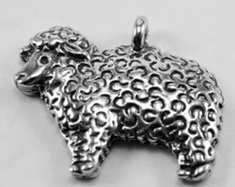 2 x Sheep lamb pendant or charm 1 bail Australian Pewter