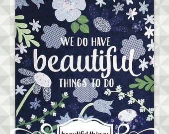 Instant Download- Beautiful Things. Large Appliqué Quilt. Advanced appliqué. Floral Quilt. Quilt Pattern. Large Quilt Pattern