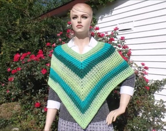 Crochet Ladies Ribbed Poncho Pattern DIGITAL DOWNLOAD ONLY