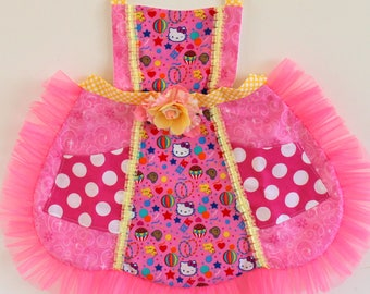Hello Kitty Circus Apron, toddler apron, girls apron