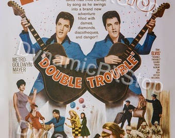 30x40cm Elvis Double Trouble Tin Sign