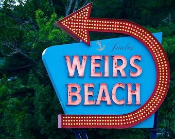 Welcome to Weirs ~ Photograph, Weirs Beach Photo, Lake Winnipesaukee Photo, New Hampshire Photo, Gifts, New Hampshire Photos