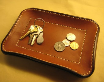Leather Valet Tray - 8 x 6