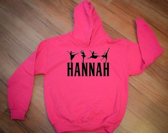 Personalized Ballet Hoodie Sweatshirt for Girls - Any name