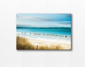 beach canvas print coastal canvas wrap nautical decor ocean photography beach 12x12 24x36 fine art photography canvas print canvas wrap teal