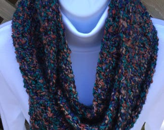 Soft and Silky Multicolored Cowl Infinity Scarf