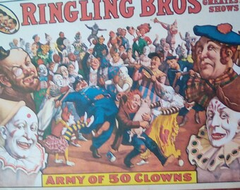 1960 circus print