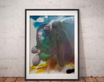 Girl · Art Print · Art Giclée Print · Wall Art · Watercolor Art · Graphite Art · Abstract Art · Figurative Art ·