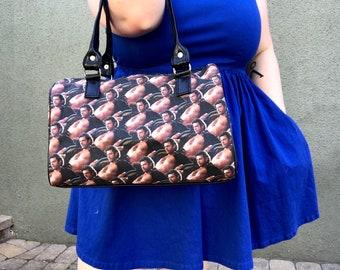 Handbag made with sexy Jeff Goldblum fabric