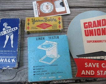 VINTAGE SEWING LOT  craft display collector