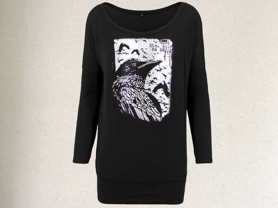 handprinted crow occult T-Shirt B8ZDlb